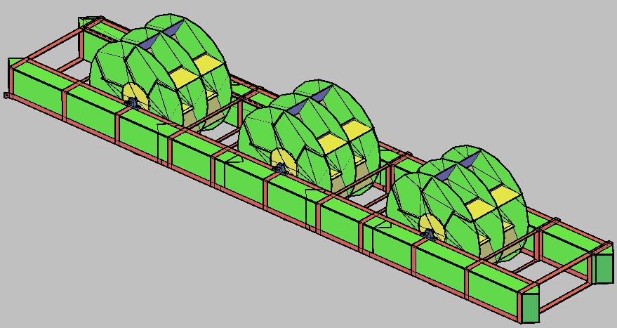 Figura 07 - Turbina Flutuante de três estágios