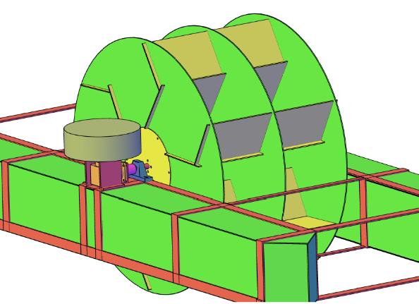 Figura 12 - Gerador fixo sobre um multiplicador em 90º