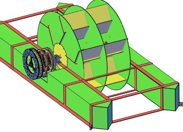 Figura 13 - Turbina Flutuante com multiplicador planetário de 25X e gerador de fluxo axial