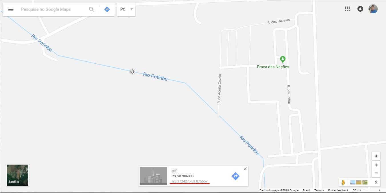 Google Maps - latitude longitude