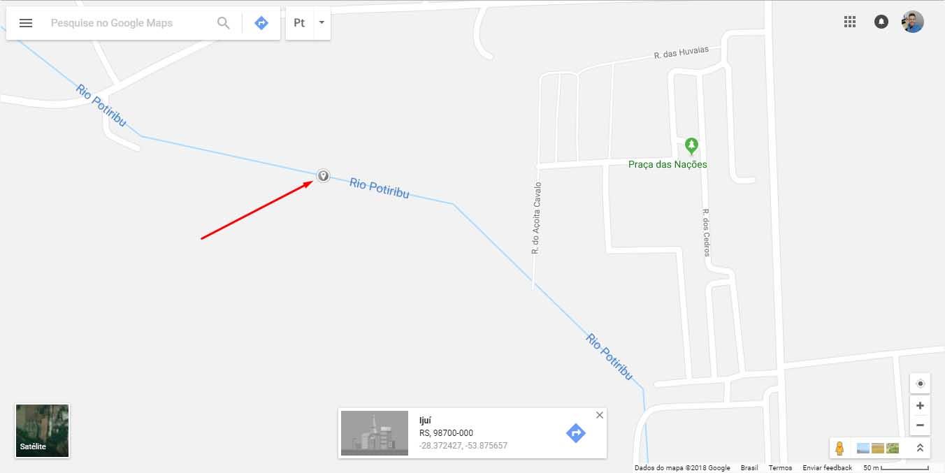 Google Maps - ponto marcado