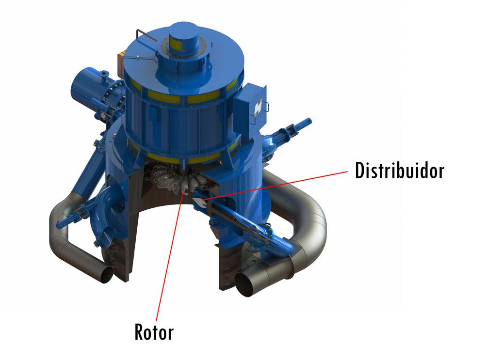 Imagem de uma turbina Pelton