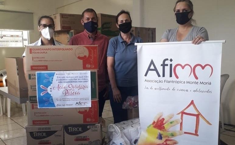 Uma páscoa diferente: Empresas vizinhas se unem em campanha de doação